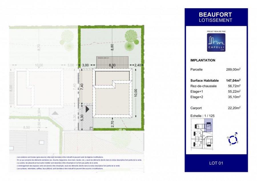 acheter maison individuelle 4 chambres 147.04 m² beaufort photo 2
