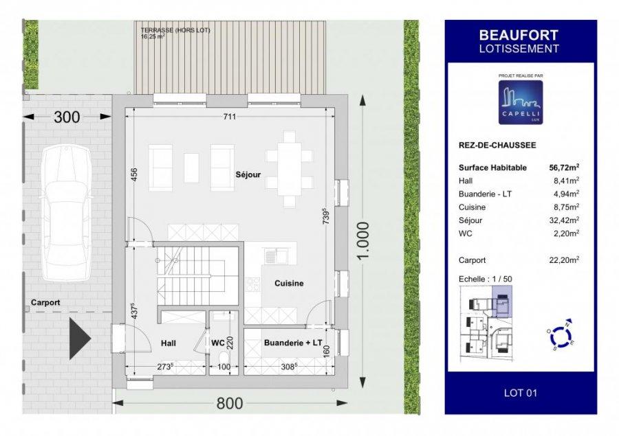 acheter maison individuelle 4 chambres 147.04 m² beaufort photo 3