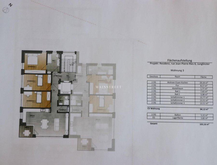 acheter appartement 3 chambres 103 m² junglinster photo 3