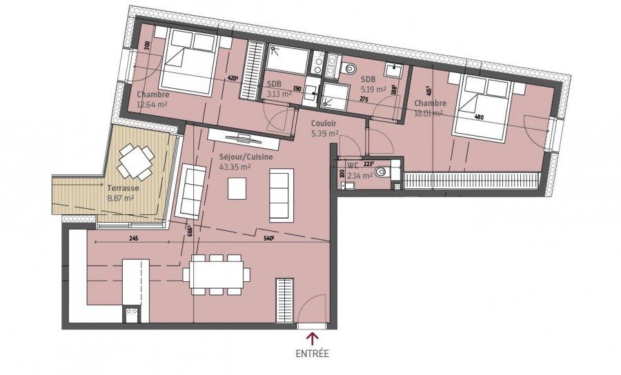 acheter appartement 2 chambres 91.78 m² bivange photo 3