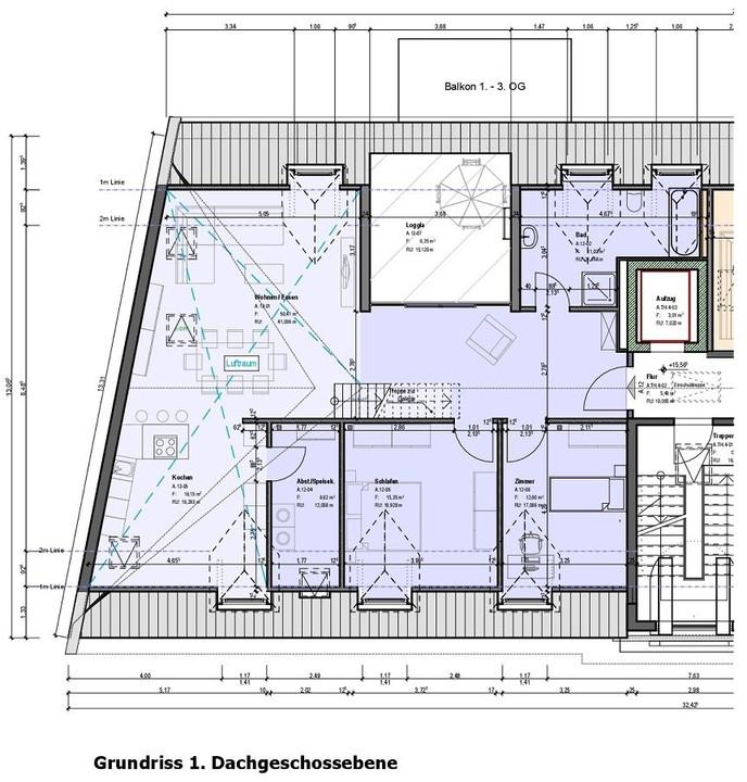 penthouse-wohnung kaufen 4 zimmer 148 m² saarbrücken foto 2