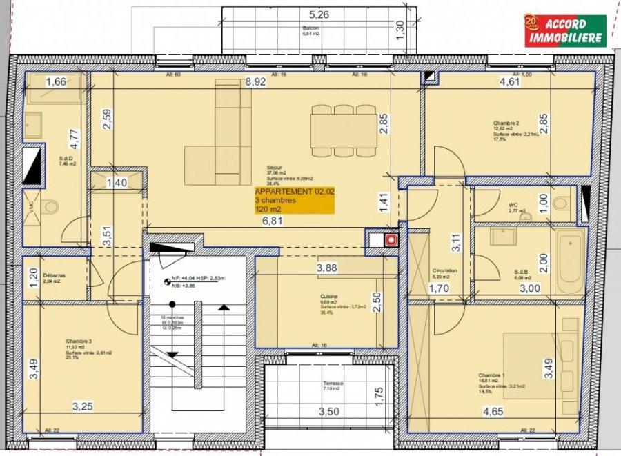 acheter appartement 3 chambres 120 m² pétange photo 4