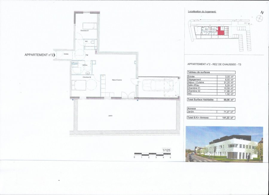 acheter appartement 2 pièces 67 m² metz photo 1