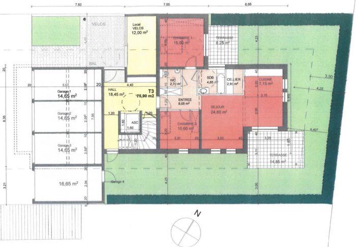 acheter appartement 3 pièces 76 m² saint-louis photo 2