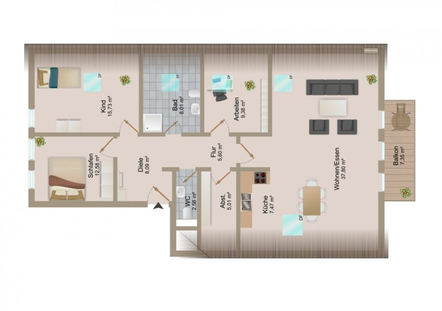 acheter appartement 4 pièces 115 m² prümzurlay photo 2