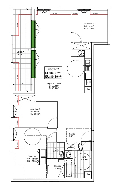 acheter appartement 4 pièces 87.74 m² tourcoing photo 3