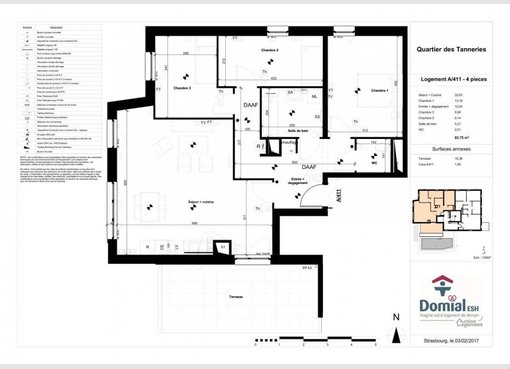 Vente appartement f4 lingolsheim bas rhin r f 5367152 for Location garage lingolsheim