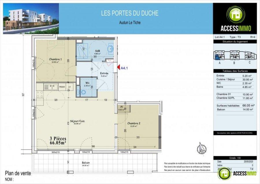 acheter appartement 0 pièce 66.05 m² audun-le-tiche photo 3