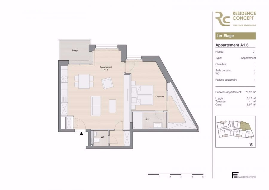 apartment for buy 1 bedroom 76.24 m² luxembourg photo 4