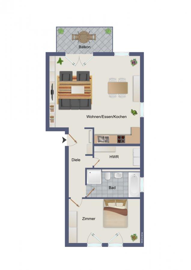 wohnung kaufen 2 zimmer 79.87 m² konz foto 1