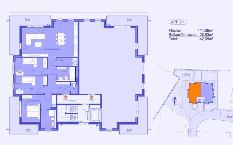 apartment for buy 3 bedrooms 125 m² strassen photo 6