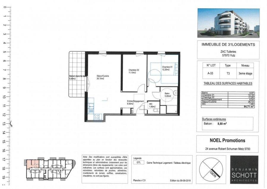 acheter appartement 3 pièces 64 m² yutz photo 1