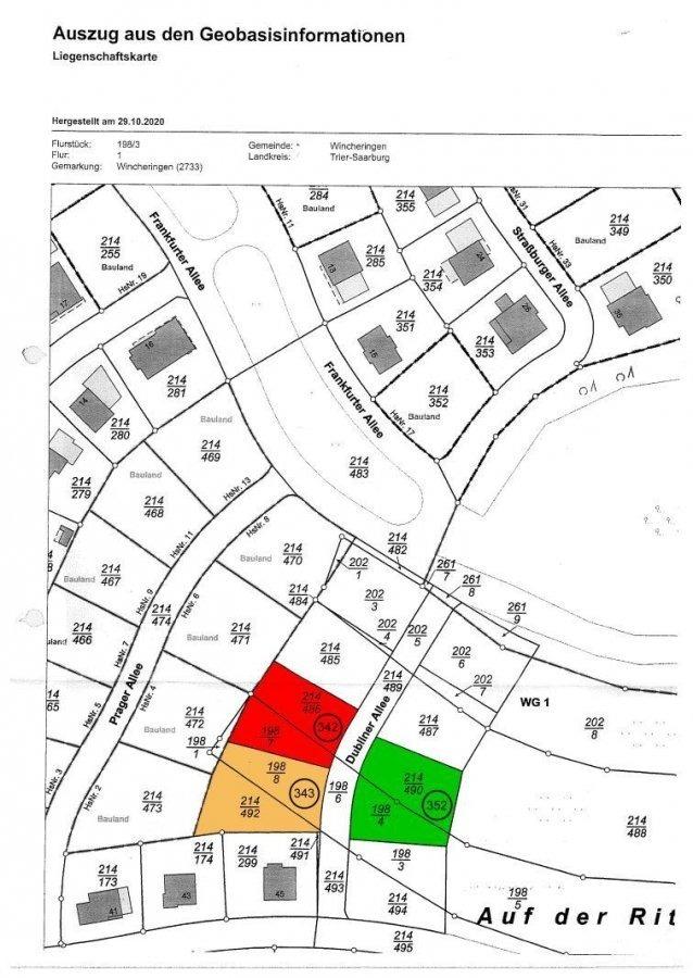 Bauland zu verkaufen in Wincheringen