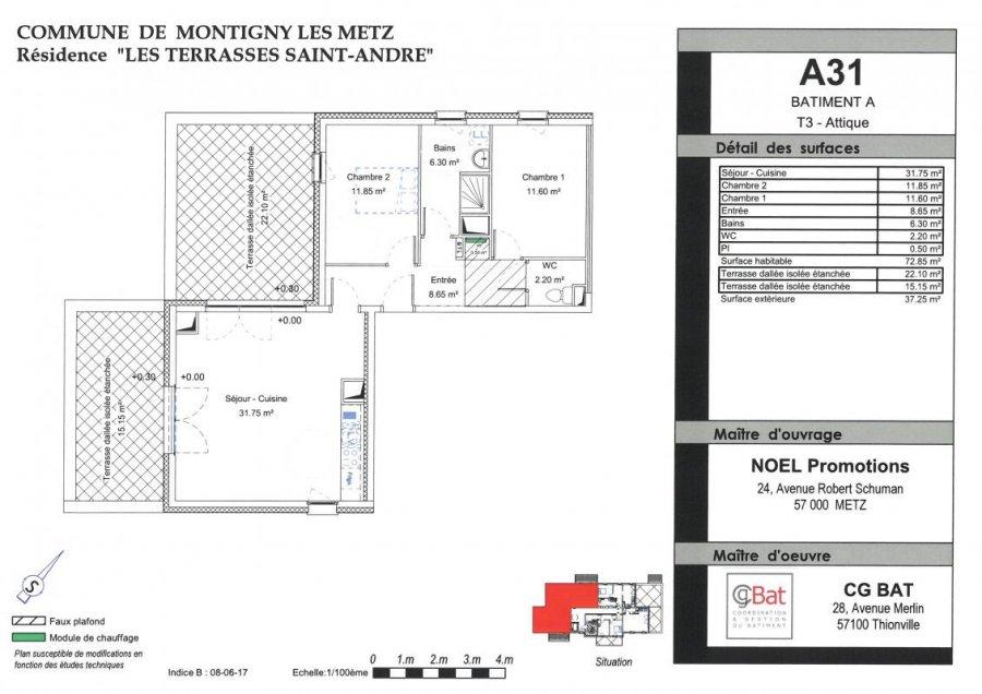 acheter appartement 3 pièces 73 m² montigny-lès-metz photo 1