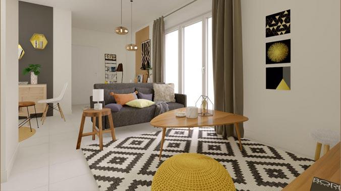 wohnung kaufen 2 zimmer 42.18 m² coin-lès-cuvry foto 1