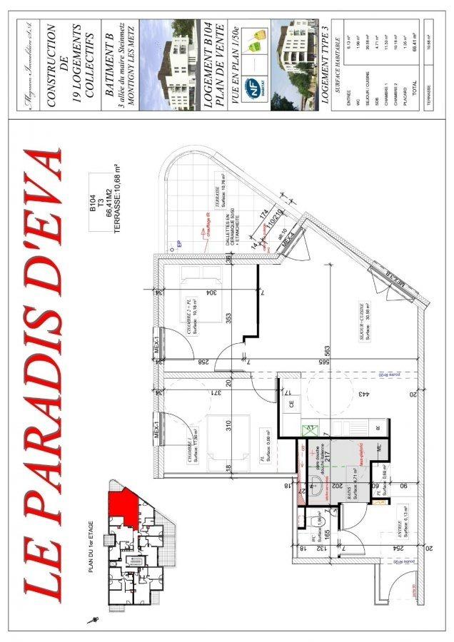 acheter appartement 3 pièces 66.41 m² montigny-lès-metz photo 3