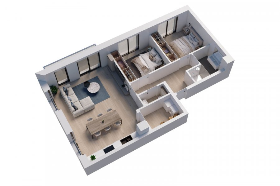 acheter appartement 2 chambres 84 m² wemperhardt photo 3
