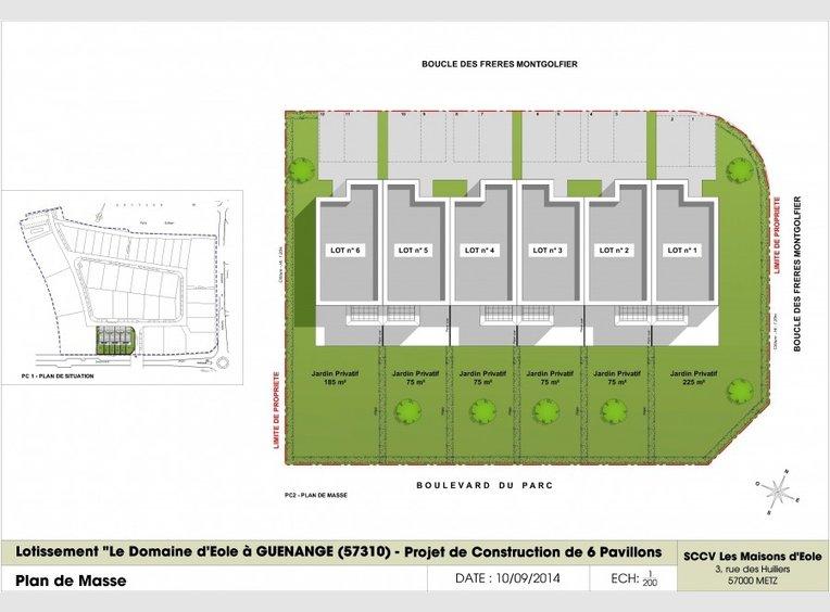 Neuf maison mitoyenne f5 gu nange moselle r f 3690160 for Construction maison mitoyenne plan