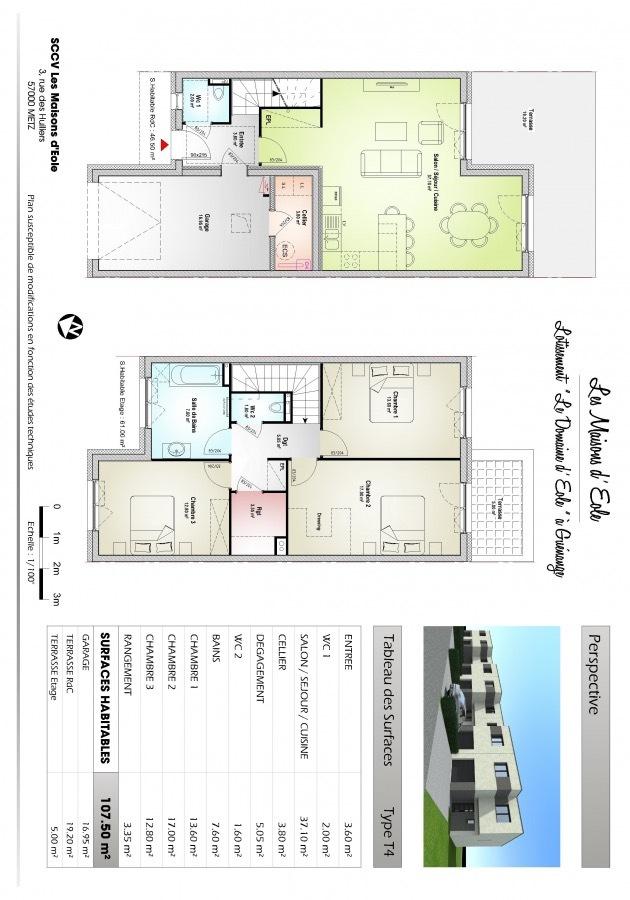 Plan de maison mitoyenne maison plain pied a gauche lide for Plan de maison f5
