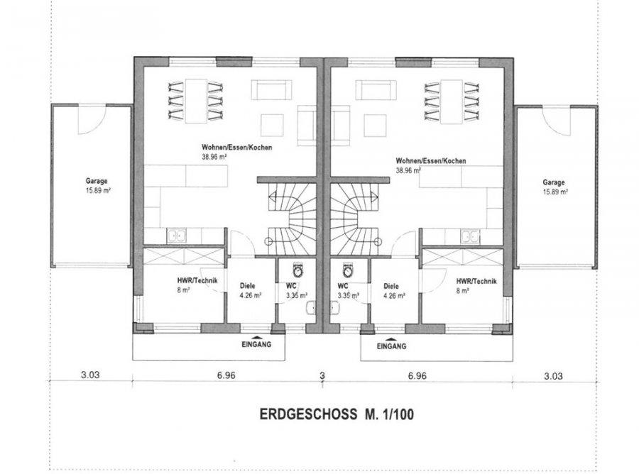 doppelhaushälfte kaufen 6 zimmer 120 m² perl foto 2