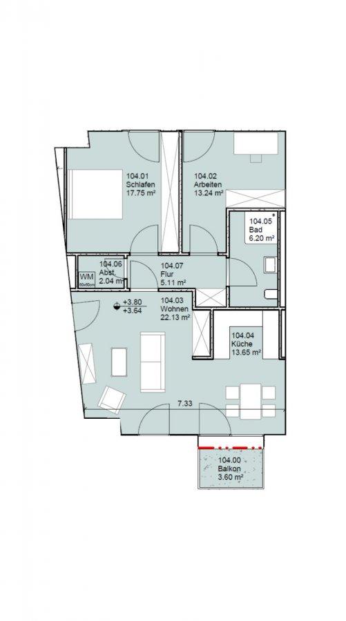 acheter appartement 2 chambres 80 m² echternach photo 2