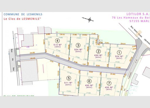 Terrain constructible à vendre à Lesménils (FR) - Réf. 7026112