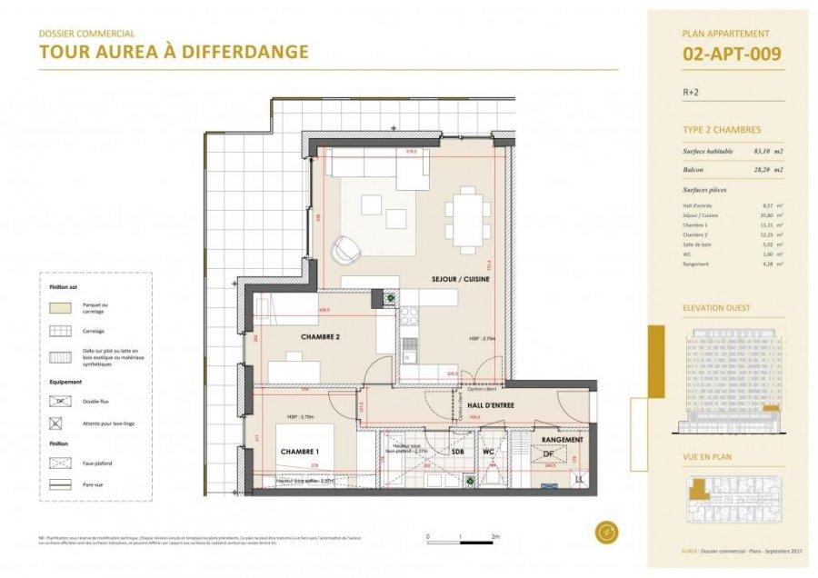 acheter appartement 2 chambres 80.47 m² differdange photo 4