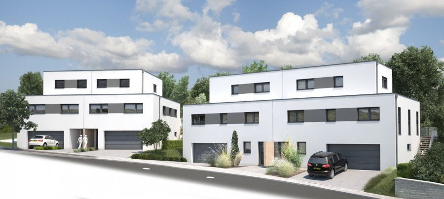 RCI - REFFAY Christophe Immobilien vous présente ici  LOT 56A :  La maison unifamiliale jumelée (lot 56A) se situe dans la commune d'ETTELBRUCK au 56A, chemin du Camping.  Elle sera construite sur un terrain de 3,98 ares, aura une surface habitable d'environ 145 m² et les caractéristiques suivantes :   Au RDC :  - 1 grand garage avec 2 emplacements de voitures côte à côte - 1 dégagement - 1 hall d'entrée - 1 buanderie - 1 local chaufferie - 1 cave  Au 1er étage :  - 1 chambre  - 1 grand espace salon/séjour - 1 cuisine ouverte - 1 WC séparé - 1 salle de douche - 1 local de réserve/cellier   Au 2e étage (espace mansardé) : - 2 chambres - 1 hall  - 1 salle de bain  Pour tout renseignement complémentaire, merci de contacter  RCI - REFFAY Christophe Immobilien 691 661 661    --------------------  RCI - REFFAY Christophe Immobilien presents here  LOT 56A: The single-family semi-detached house (lot 56A) is located in the town of ETTELBRUCK at 56A, chemin du Camping. It will be built on a plot of 3.98 ares, will have a living space of approximately 145 m² and the following characteristics:  On the ground floor: - 1 large garage with 2 car locations side by side - 1 release - 1 entrance hall - 1 laundry - 1 local boiler room - 1 cellar  1st floor: - 1 bedroom - 1 large living / dining area - 1 open kitchen - 1 separate WC - 1 shower room - 1 spare room / storeroom  2nd floor (attic space): - 2 bedrooms - 1 hall - 1 bathroom  For further information, please contact RCI - REFFAY Christophe Immobilien 691 661 661  --------------------  RCI - REFFAY Christophe Immobilien präsentiert Ihnen hier  LOS 56A: Die Einfamilien-Doppelhaushälfte (Los 56A) befindet sich in der Stadt ETTELBRUCK, 56, chemin du Camping. Es wird auf einem Grundstück von 3,98 Ar gebaut, wird eine Wohnfläche von ca. 145 m² und die folgenden Eigenschaften haben:  Im Erdgeschoss: - 1 große Garage mit 2 Stellplätzen nebeneinander - 1 Abstellecke - 1 Eingangshalle - 1 Waschraum - 1 Heizungsraum - 1 Keller  1. Etage: - 1 Schlafzimmer - 1 großer Wohn- / Essbereich - 1 offene Küche - 1 separates WC - 1 Duschraum - 1 Reserveraum / Abstellraum  2. Etage (Dachgeschoss): - 2 Schlafzimmer - 1 Korridor - 1 Badezimmer  Für weitere Informationen wenden Sie sich bitte an RCI - REFFAY Christophe Immobilien 691 661 661 Ref agence :V_2019_14_56A