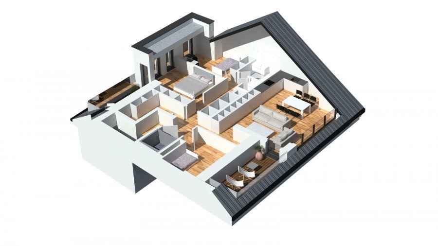 En vente nouvelle résidence disposant de 3 appartements lumineux.   Vous pouvez dès maintenant réserver votre appartement de rêve dans cette résidence !   Penthouse (3 chambres) à +/- 116.3m2 avec  Living de 40m2  3 chambres à coucher (15.9m2/13.3m2/ 10.3m2)  Hall de nuit  WC séparé  Salle de douche  Débarras  deux terasses de 10m2 + 9m2   jardin privatif  ascenseur privatif  Emplacements intérieurs dans garage avec accès à l'ascenseur privatif  Vente en futur état d'achèvement (VEFA)  Cet appartement peut aussi être remodulé en 2 chambres, alors le Living-séjour aura 50m2 au lieu 40m2.  Actuellement, il est encore possible de changer les dispositions des intérieurs des appartements, c'est-à-dire tailles des différents pièces ( living/ chambres/SBD/SDD) etc !!!  Les appartements/penthouses seront livrés 'clés en main'.  De nombreuses options et possibilités de personnalisation sont offertes pour chaque logement afin de permettre à chacun de définir l'ambiance, les couleurs ou encore les matériaux qui correspondent à ses envies.  L'ensemble de ces paramètres sont définis dans le cahier des charges de la construction, selon le type de logement envisagé.  Chaque lot dispose d'au moins une terrasse, d'un balcon et/ou d'un jardin privatif.  Spécifiés techniques :  - Ascenseur (privatif) - Ventilation contrôlée double flux - Chauffage au sol - Châssis PVC Triple vitrage - Stores électriques Raffstore - Finitions haut de gamme  La résidence sera érigée à deux pas du centre-ville/école primaire /centres commerciaux/ et avec bon accès aux grands axes de circulation.  Acheter du neuf c'est avoir la garantie et la tranquillité pour des années.  Acheter dans cette résidence vous donne la possibilité d'intégrer vos idées/préférences dans votre futur logement !  Acheter directement au promoteur, c'est avoir des informations claires et la garantie du meilleur prix !  Les prix et conceptions exactes sont actuellement sur demande !  N'hésitez pas à nous envoyer vos critères de reche
