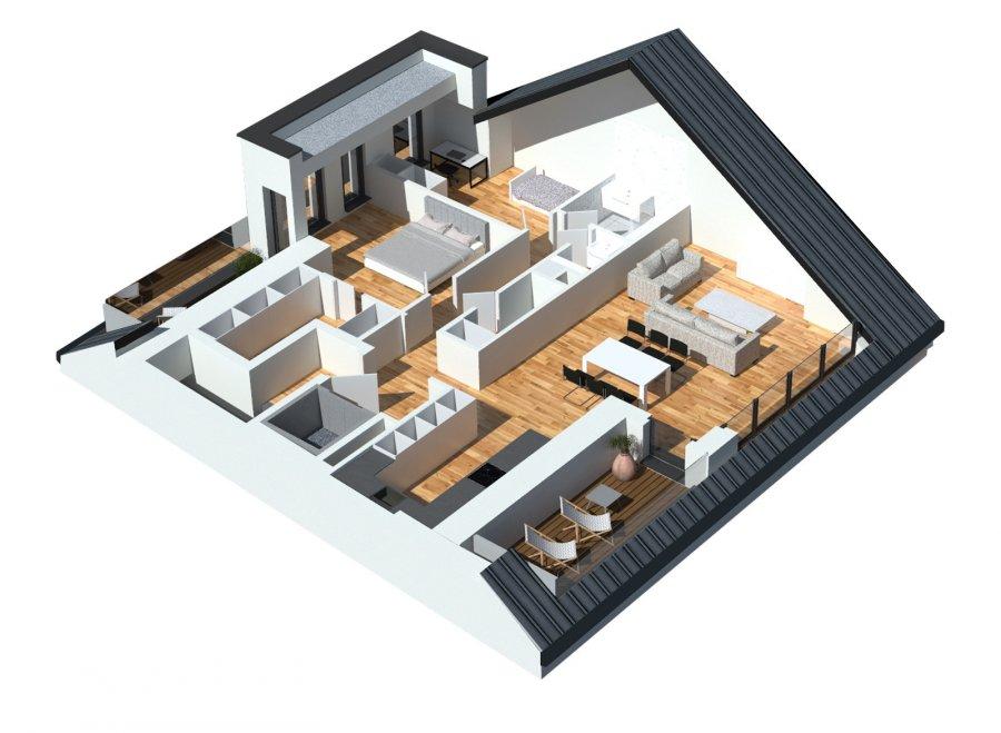 En vente nouvelle résidence disposant de 3 appartements lumineux.  Vous pouvez dès maintenant réserver votre appartement de rêve dans cette résidence !  Penthouse (2-3 chambres) à +/- 116.3m2 avec  Living de 40m2  3 chambres à coucher (15.9m2/13.3m2/ 10.3m2)  Hall de nuit  WC séparé  Salle de douche  Débarras  Deux terasses de 10m2 + 9m2   Jardin privatif (en option)  Ascenseur privatif  Cet appartement peut aussi être remodulé en 2 chambres, alors le Living-séjour aura +/- 53m2 au lieu 40m2.  Emplacements intérieurs dans garage avec accès à l'ascenseur privatif  Vente en futur état d'achèvement (VEFA)  Actuellement, il est encore possible de changer les dispositions des intérieurs des appartements, c'est-à-dire tailles des différents pièces ( living/ chambres/SBD/SDD) etc !!!  Les appartements/penthouses seront livrés 'clés en main'.  De nombreuses options et possibilités de personnalisation sont offertes pour chaque logement afin de permettre à chacun de définir l'ambiance, les couleurs ou encore les matériaux qui correspondent à ses envies.  L'ensemble de ces paramètres sont définis dans le cahier des charges de la construction, selon le type de logement envisagé.  Chaque lot dispose d'au moins une terrasse, d'un balcon et/ou d'un jardin privatif.  Spécifiés techniques :  - Ascenseur (privatif) - Ventilation contrôlée double flux - Chauffage au sol - Châssis PVC Triple vitrage - Stores électriques Raffstore - Finitions haut de gamme  La résidence sera érigée à deux pas du centre-ville/école primaire /centres commerciaux/ et avec bon accès aux grands axes de circulation.  Acheter du neuf c'est avoir la garantie et la tranquillité pour des années.  Acheter dans cette résidence vous donne la possibilité d'intégrer vos idées/préférences dans votre futur logement !  Acheter directement au promoteur, c'est avoir des informations claires et la garantie du meilleur prix !  Les prix et conceptions exactes sont actuellement sur demande !  N'hésitez pas à nous envoyer vos c