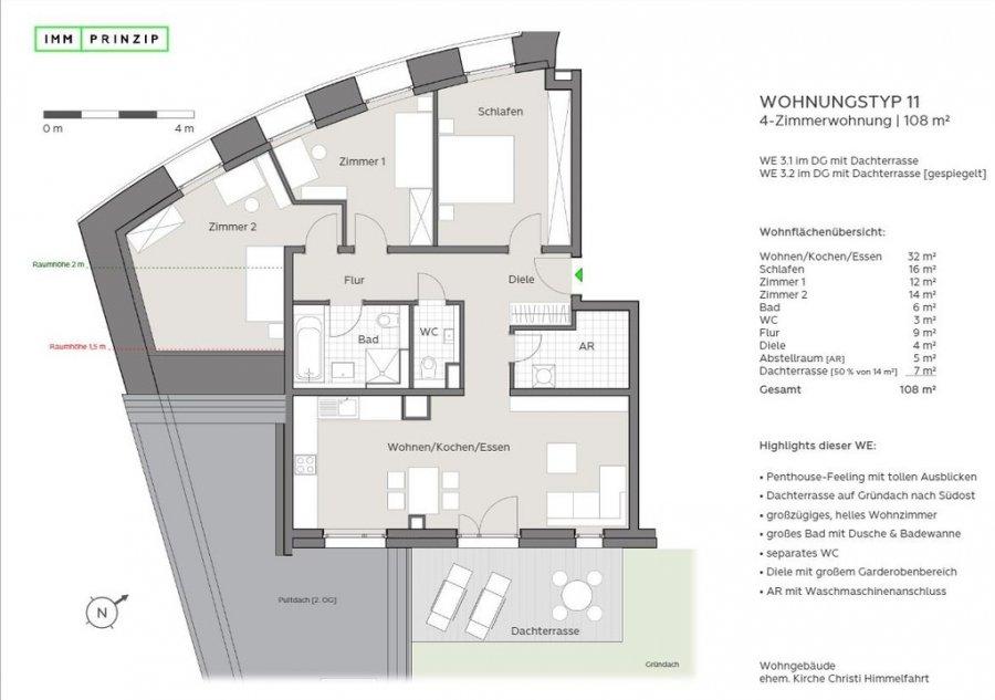 penthouse-wohnung mieten 4 zimmer 108 m² trier foto 4