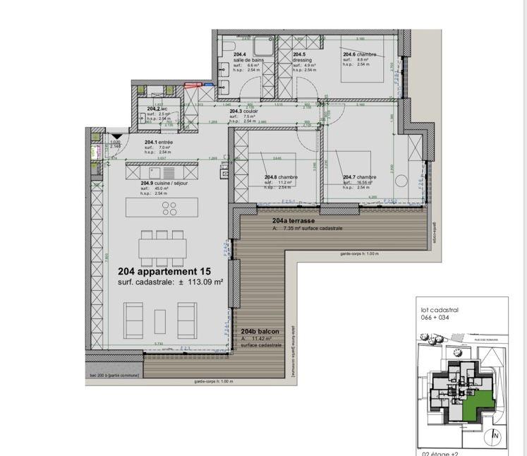 acheter appartement 3 chambres 113.09 m² strassen photo 4