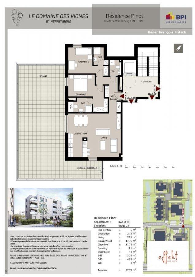 acheter penthouse 2 chambres 91.73 m² mertert photo 3