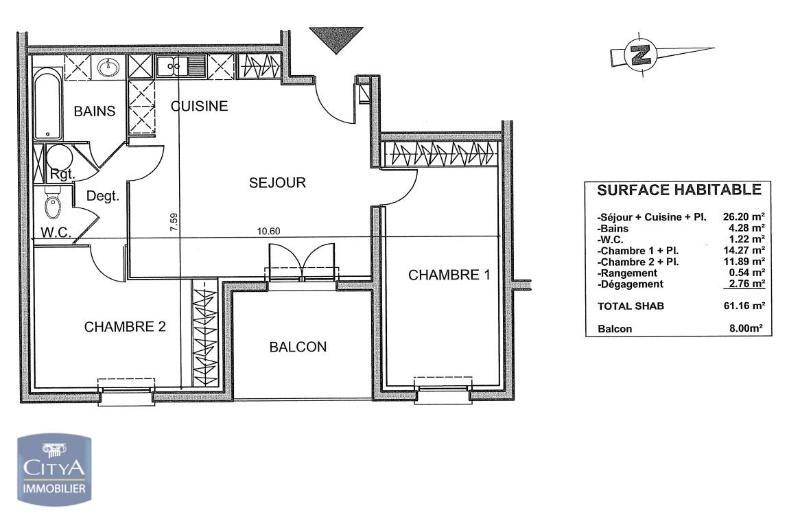 louer appartement 3 pièces 61 m² stiring-wendel photo 4