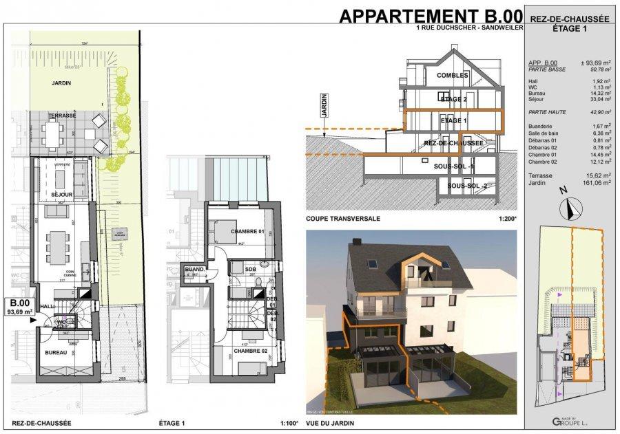 acheter appartement 3 chambres 94 m² sandweiler photo 3