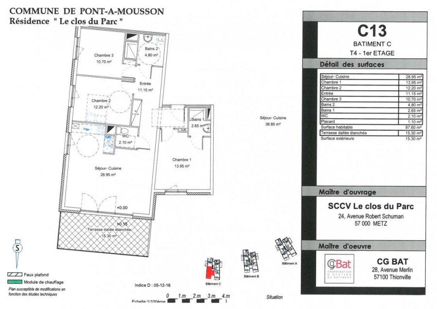 acheter appartement 4 pièces 88 m² pont-à-mousson photo 1