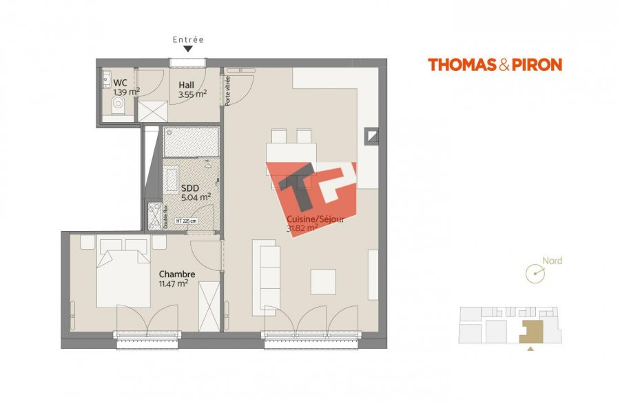 acheter appartement 1 chambre 54.52 m² luxembourg photo 1