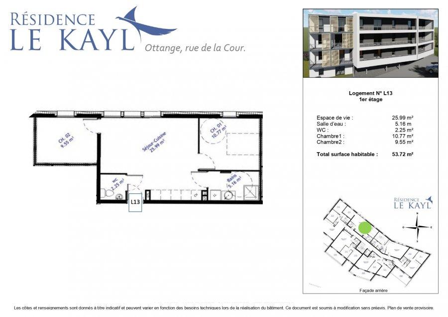 acheter appartement 3 pièces 53.72 m² ottange photo 3