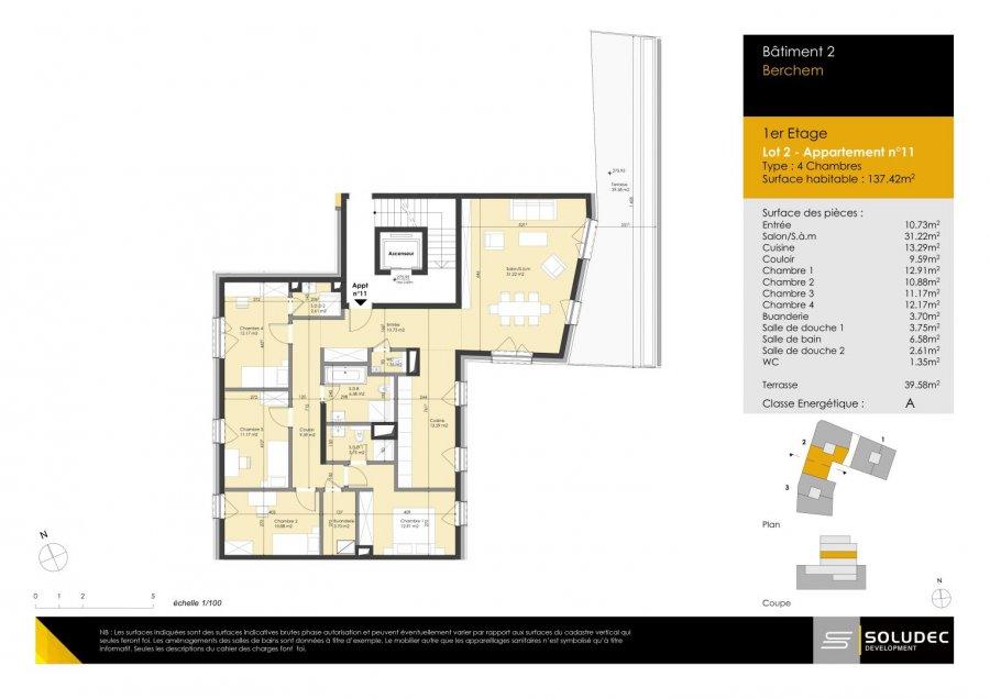 wohnung kaufen 4 schlafzimmer 109.25 m² berchem foto 1
