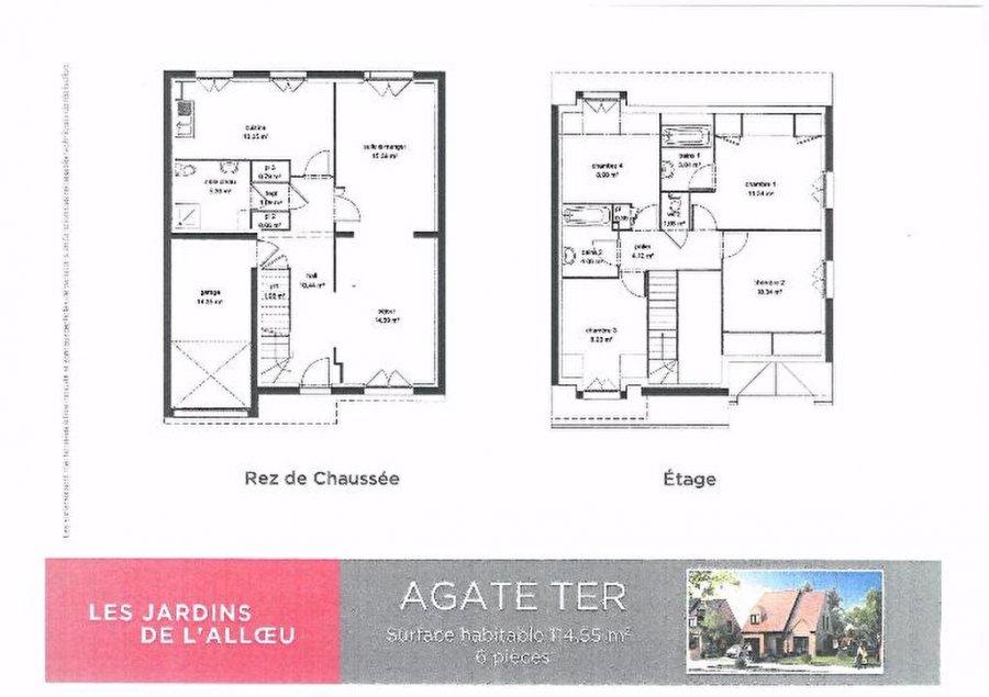 Maison individuelle en vente fleurbaix 114 m 295 for Acheter maison individuelle nord