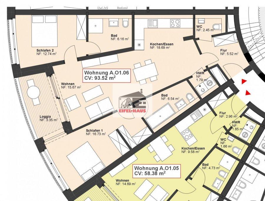 acheter appartement 2 chambres 93.52 m² wasserbillig photo 2