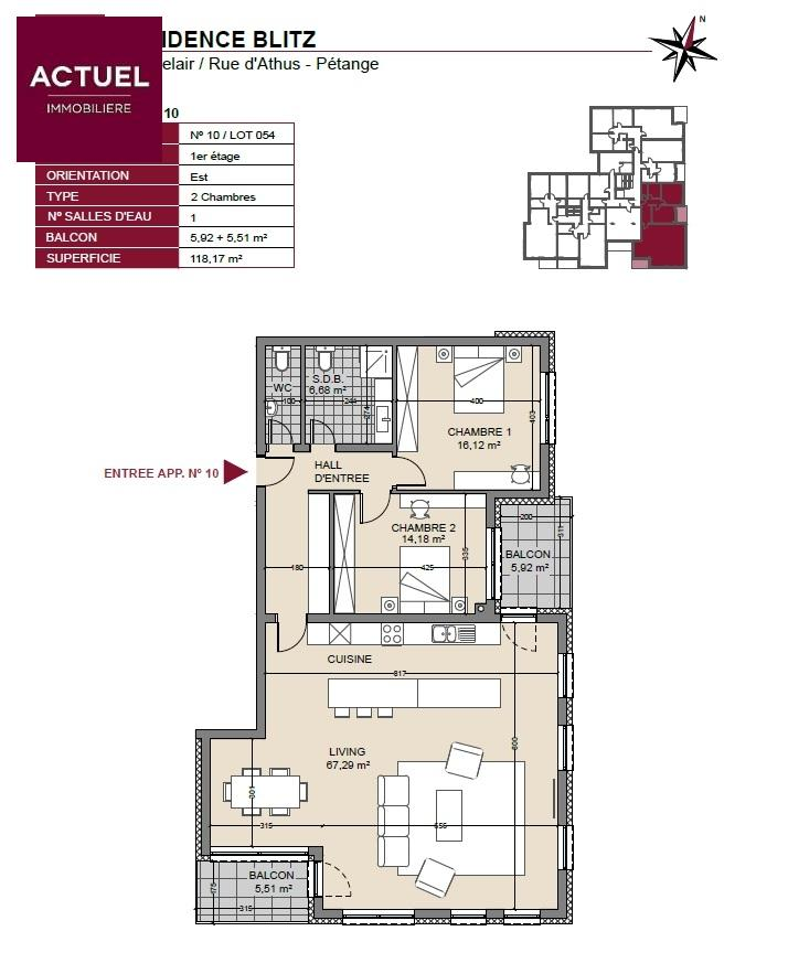 apartment for buy 2 bedrooms 124 m² pétange photo 3