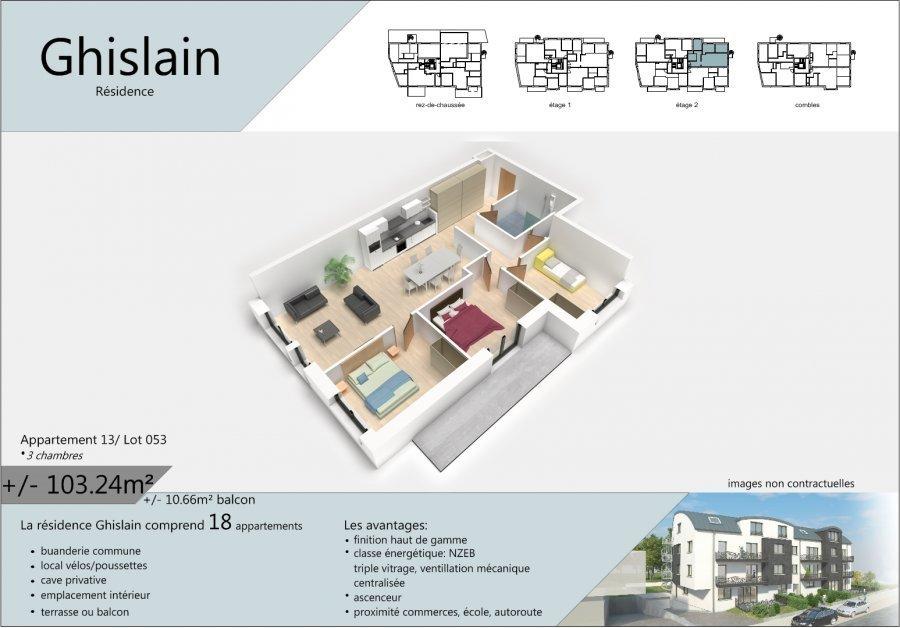 acheter appartement 3 chambres 108.57 m² rodange photo 2