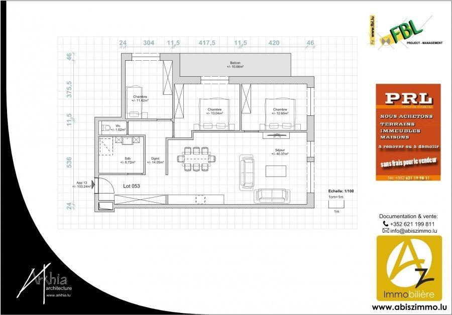 acheter appartement 3 chambres 108.57 m² rodange photo 3