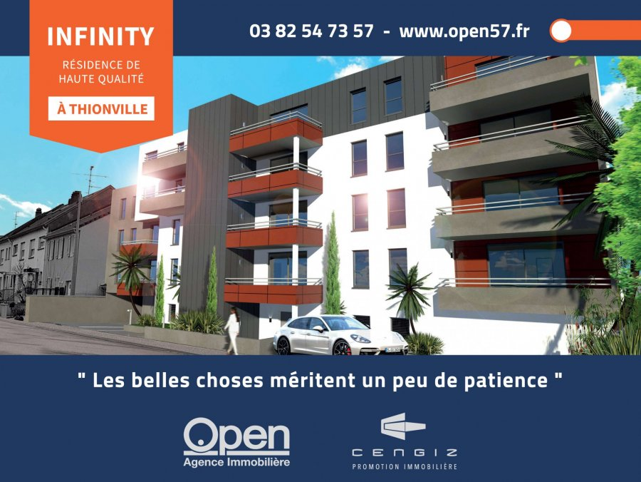 acheter appartement 3 pièces 64.57 m² thionville photo 1