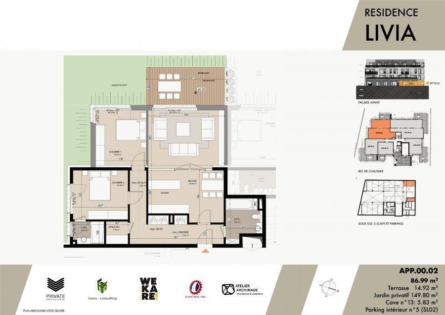 acheter résidence 0 chambre 43.04 à 75.96 m² luxembourg photo 5