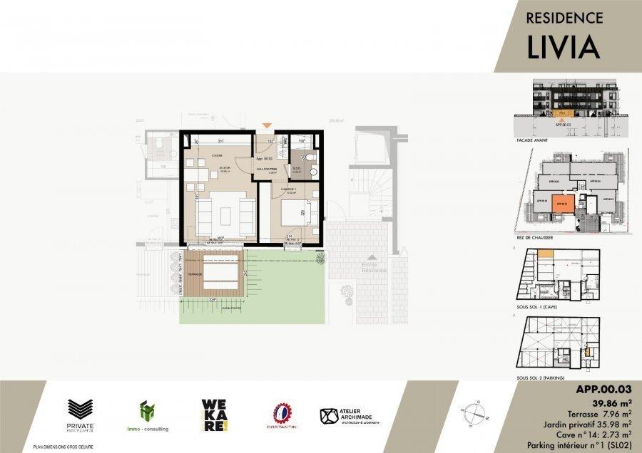 acheter résidence 0 chambre 43.04 à 75.96 m² luxembourg photo 6