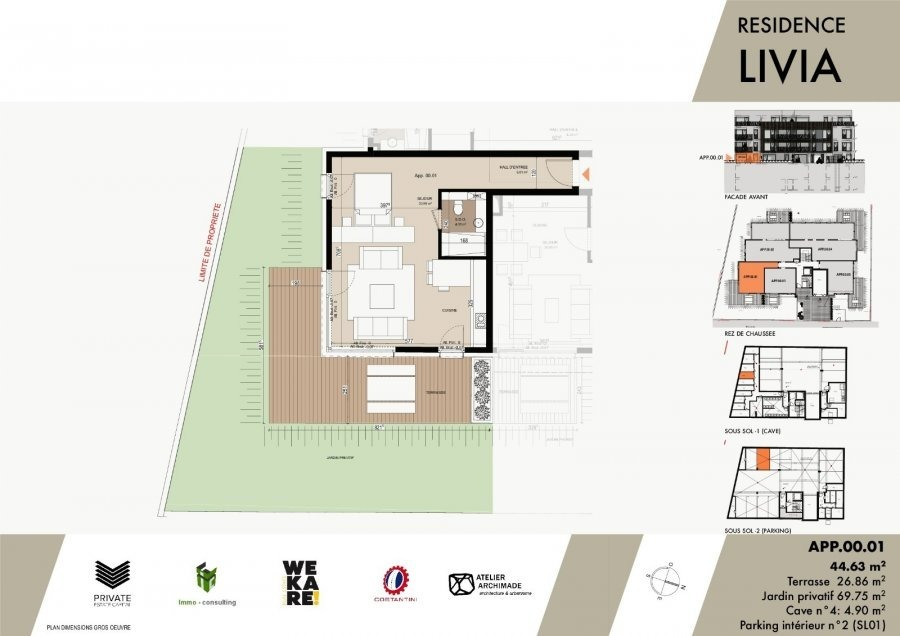 acheter résidence 0 chambre 43.04 à 119.66 m² luxembourg photo 3