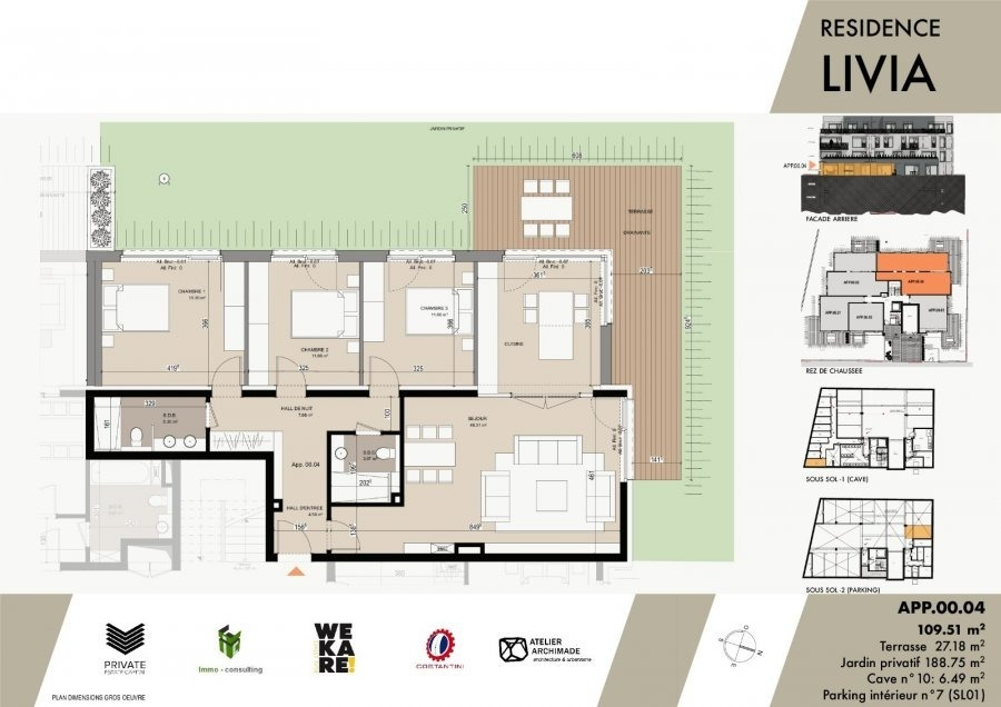 acheter résidence 0 chambre 43.04 à 119.66 m² luxembourg photo 7