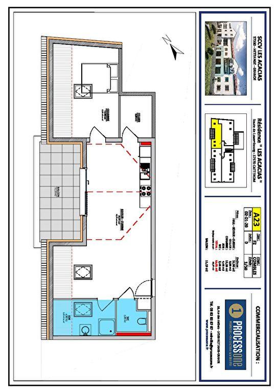 acheter appartement 2 pièces 55.01 m² cattenom photo 1
